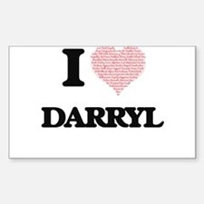 I Love Darryl (Heart Made from Love words) Decal