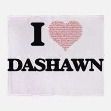 I Love Dashawn (Heart Made from Love Throw Blanket