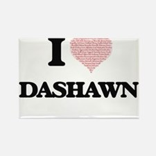 I Love Dashawn (Heart Made from Love words Magnets