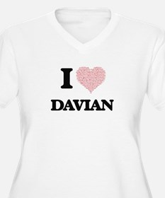 I Love Davian (Heart Made from L Plus Size T-Shirt