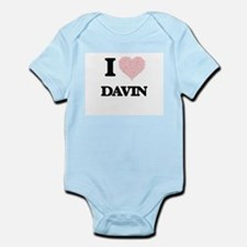 I Love Davin (Heart Made from Love words Body Suit