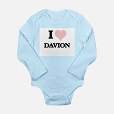 I Love Davion (Heart Made from Love word Body Suit