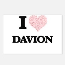 I Love Davion (Heart Made Postcards (Package of 8)