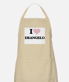 I Love Deangelo (Heart Made from Love words) Apron