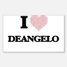 I Love Deangelo (Heart Made from Love word Decal