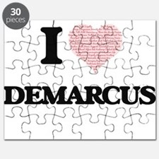 I Love Demarcus (Heart Made from Love words Puzzle