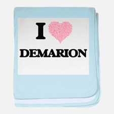 I Love Demarion (Heart Made from Love baby blanket