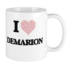I Love Demarion (Heart Made from Love words) Mugs