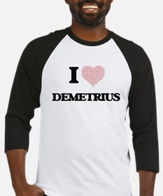 I Love Demetrius (Heart Made from Baseball Jersey