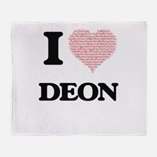 I Love Deon (Heart Made from Love wo Throw Blanket