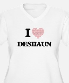 I Love Deshaun (Heart Made from Plus Size T-Shirt