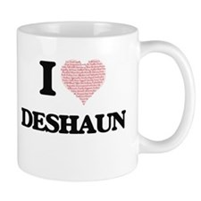 I Love Deshaun (Heart Made from Love words) Mugs