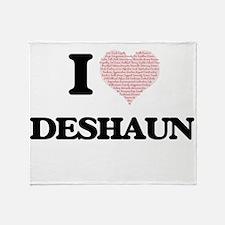 I Love Deshaun (Heart Made from Love Throw Blanket