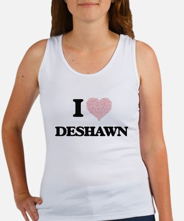 I Love Deshawn (Heart Made from Love word Tank Top