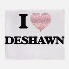 I Love Deshawn (Heart Made from Love Throw Blanket