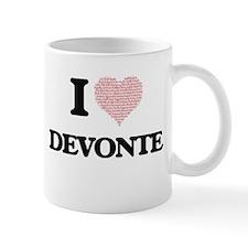 I Love Devonte (Heart Made from Love words) Mugs