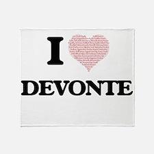 I Love Devonte (Heart Made from Love Throw Blanket