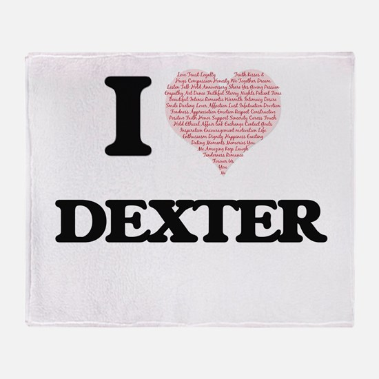 I Love Dexter (Heart Made from Love Throw Blanket