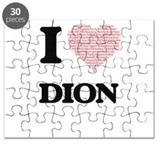 I Love Dion (Heart Made from Love words) Puzzle