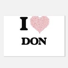 I Love Don (Heart Made fr Postcards (Package of 8)