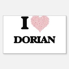 I Love Dorian (Heart Made from Love words) Decal