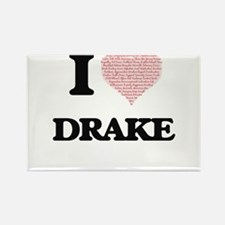 I Love Drake (Heart Made from Love words) Magnets
