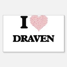 I Love Draven (Heart Made from Love words) Decal