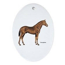 Thoroughbred Horse Oval Ornament