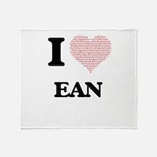 I Love Ean (Heart Made from Love wor Throw Blanket