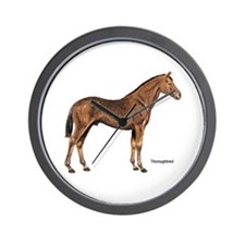 Thoroughbred Horse Wall Clock