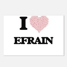 I Love Efrain (Heart Made Postcards (Package of 8)