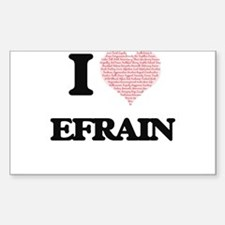 I Love Efrain (Heart Made from Love words) Decal