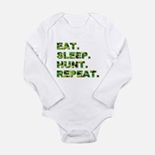 EAT. SLEEP. HUNT... Long Sleeve Infant Bodysuit