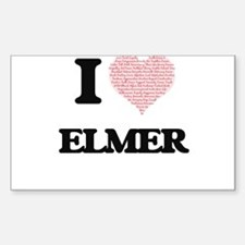 I Love Elmer (Heart Made from Love words) Decal