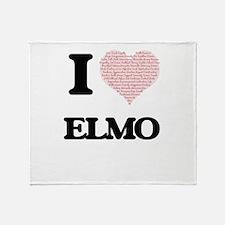I Love Elmo (Heart Made from Love wo Throw Blanket
