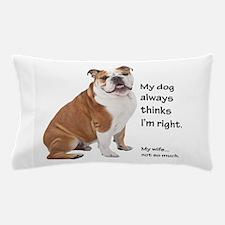 Bulldog v Wife Pillow Case