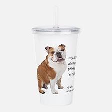 Bulldog v Wife Acrylic Double-wall Tumbler
