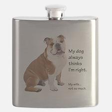 Bulldog v Wife Flask