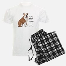 Bulldog v Wife Pajamas