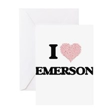 I Love Emerson (Heart Made from Lov Greeting Cards