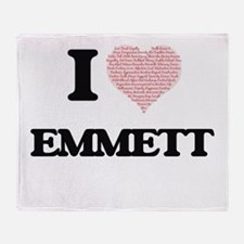 I Love Emmett (Heart Made from Love Throw Blanket