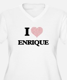 I Love Enrique (Heart Made from Plus Size T-Shirt