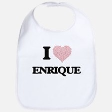 I Love Enrique (Heart Made from Love words) Bib