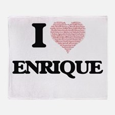I Love Enrique (Heart Made from Love Throw Blanket