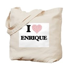 I Love Enrique (Heart Made from Love word Tote Bag