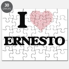 I Love Ernesto (Heart Made from Love words) Puzzle