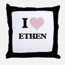 I Love Ethen (Heart Made from Love wo Throw Pillow