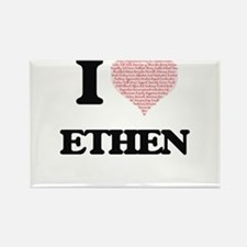 I Love Ethen (Heart Made from Love words) Magnets