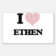 I Love Ethen (Heart Made from Love words) Decal