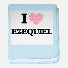 I Love Ezequiel (Heart Made from Love baby blanket